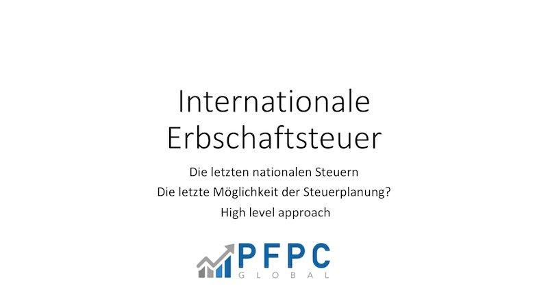 Internationale Erbschaftsteuer